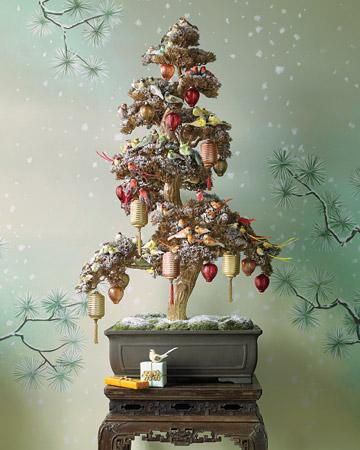 świąteczne drzewko bonsai